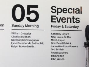 Sunday's line-up