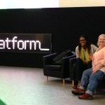 Danelle & Jade on set at Platform Summit rehearsal