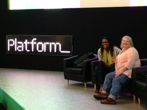 Danelle & Jade on set at Platform Summit rehearsal