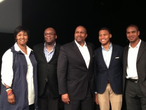 Session I Panel - Dr. Mae Jemison, Tom Adams, Tavis Smiley, Kanyi Maqubela, and Sheldon Gilbert