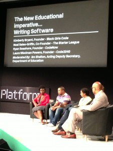 "Platform Panel with the ""coders"""